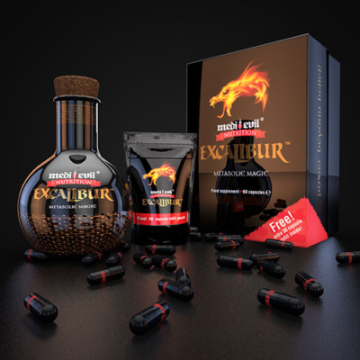 Medi-Evil® Nutrition-Excalibur-90+30-free-caps The Strongest Fat Burner
